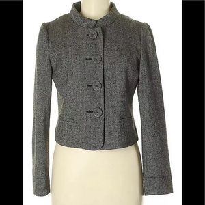 Banana Republic-Gray Wool Peacoat-Size 6